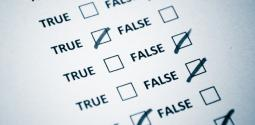 Graphic of true or false questions