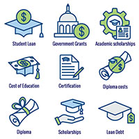Images of different grant types including student loans, government       grants, and scholarships